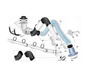 Replacement Arm Section With White Covers Nederman NEX DX