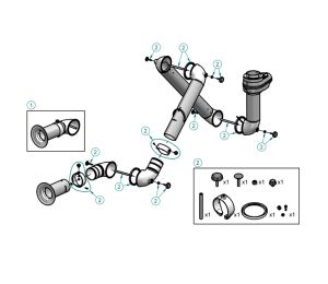 Link Assembly Kit for Nederman FX arm