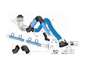 Swivel System for Nederman NEX D/DX Arm