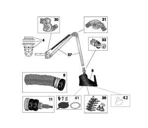 Nederman Hood Lens 5pc, 24V light bulbs 2pc