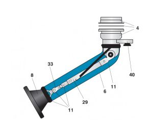 Nederman Telescopic Arm Diagram With Extension System showing part 39