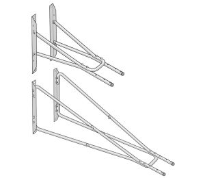 Extension Wall Bracket for Nederman Original and Telescopic Arms