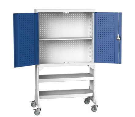Mobile Rack for Perfo Cupbaords with Cupboards