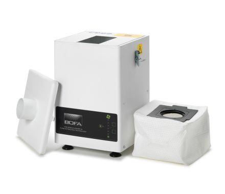 DustPRO 400 open showing the filters