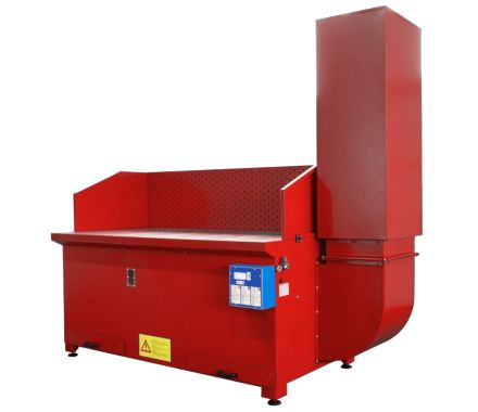 AES BC Downdraft Extraction Bench for Non-Sparking Dust Applications
