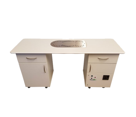 BenchVent BV3015 Double Pedestal Nail Desk with Extraction