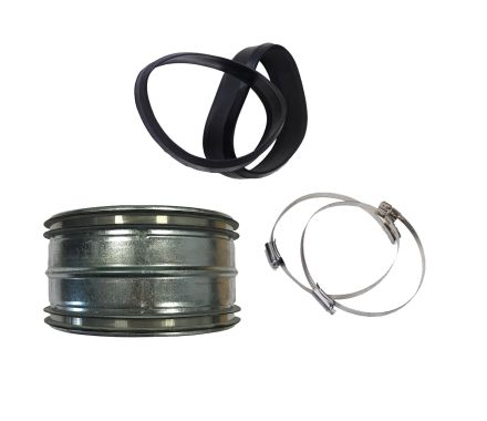 Hose Connector Kit With Hose Clips and Rubber Sleeves for Nederman Exhaust System