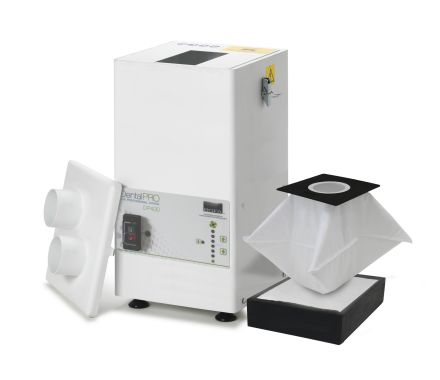 DentalPRO 400 with the lid off showing the filters