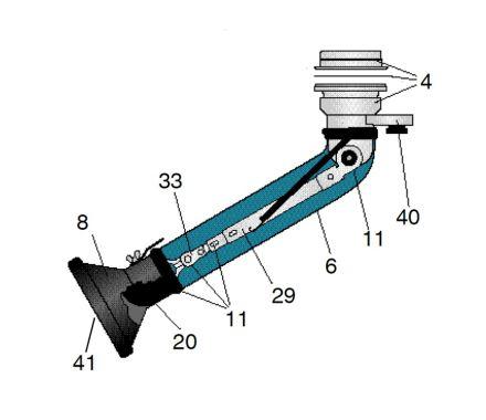 Link Fork for Nederman Telescopic Arm
