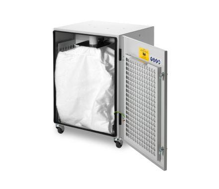 DustPRO Universal with the door open showing the filter bag