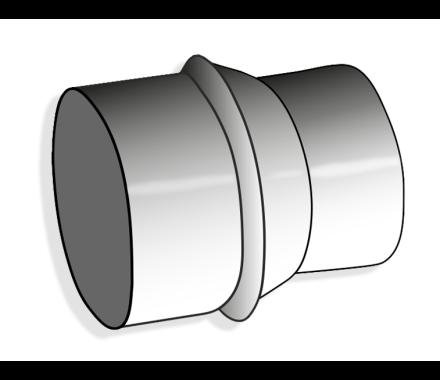 Nederman Hose Reduction Connector (Galvanised Steel)
