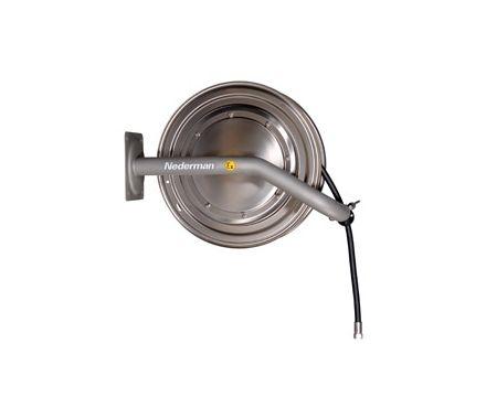 Nederman 886 25M Water / Compressed Air Acid Resistant Stainless Steel Industrial Hose Reel (AISI 316)