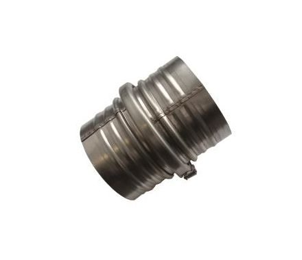 Nederman Hose Coupling with 2 Sleeves and Hose Clips