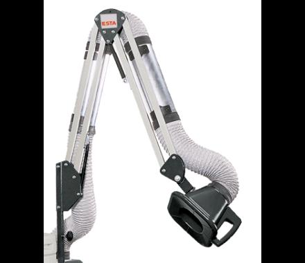 ESTA extraction arm with plastic hood