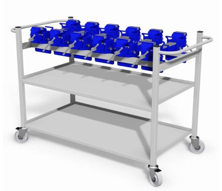 Nortek - Vice Transport Trolley With Two Shelves