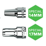Translas 8XE MIG Extraction Torch - 500 Water-Cooled
