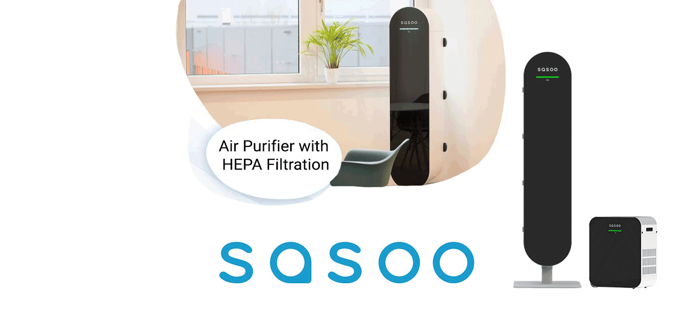 The brand new Sasoo range of air purifiers built for public spaces, now available from AES!