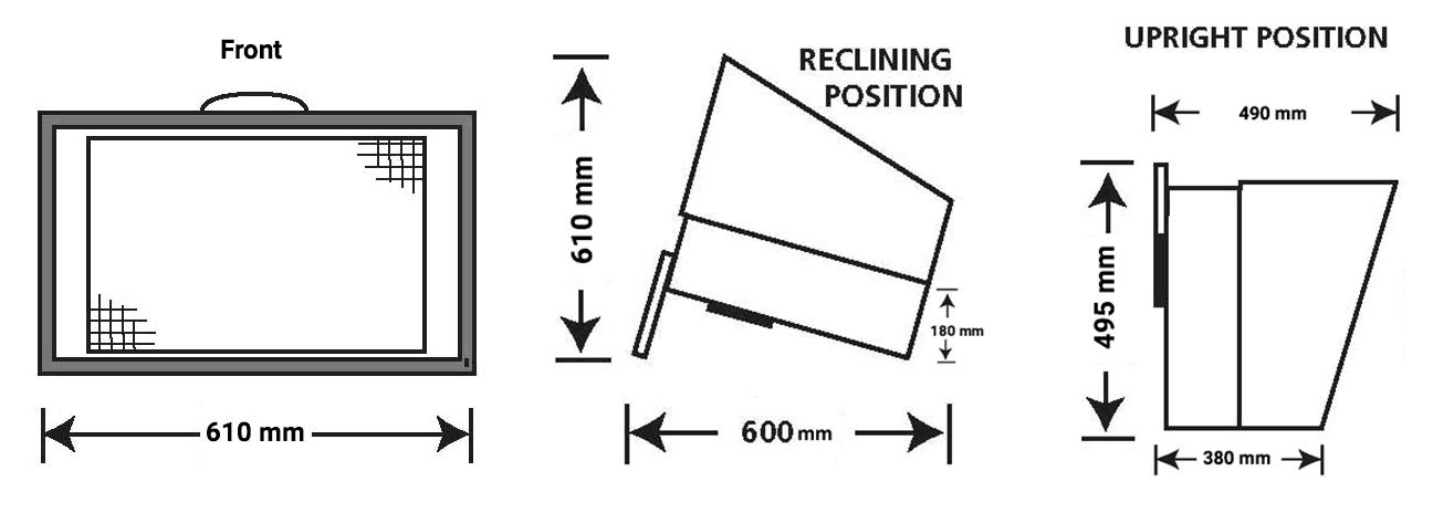 BenchVent BV260 Dimensions