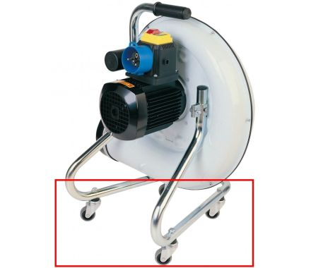Nederman Portable Fan with Wheels Highlighted